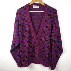 Vintage Mondo | Italy Purple Mohair Wool Sweater S